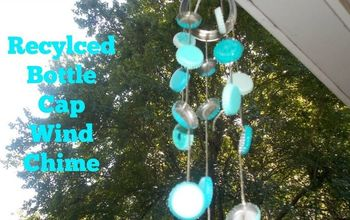 diy recycled bottle cap wind chime