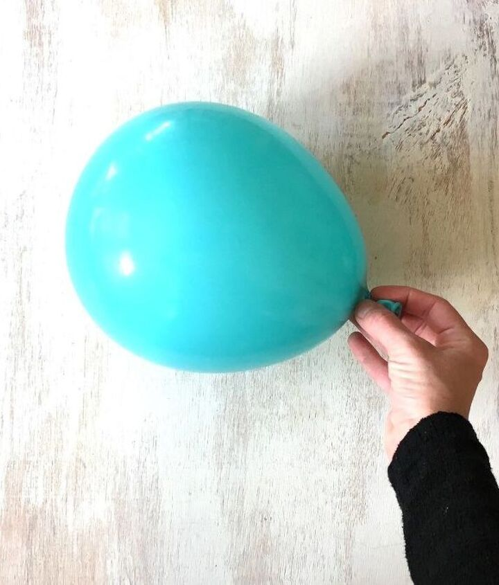 s 3 beautiful projects that use balloons, Step 1 Blow Up a Balloon