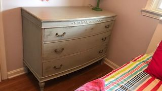 , After The distressed look gave it a brachytherapy worn look perfect for my granddaughters flip flop bedroom