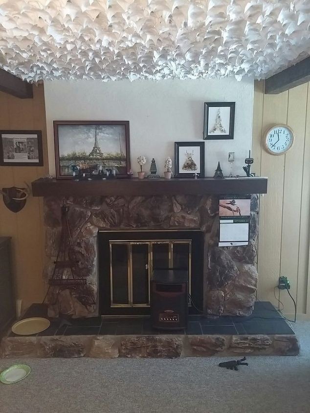 q help dark out dated fireplace