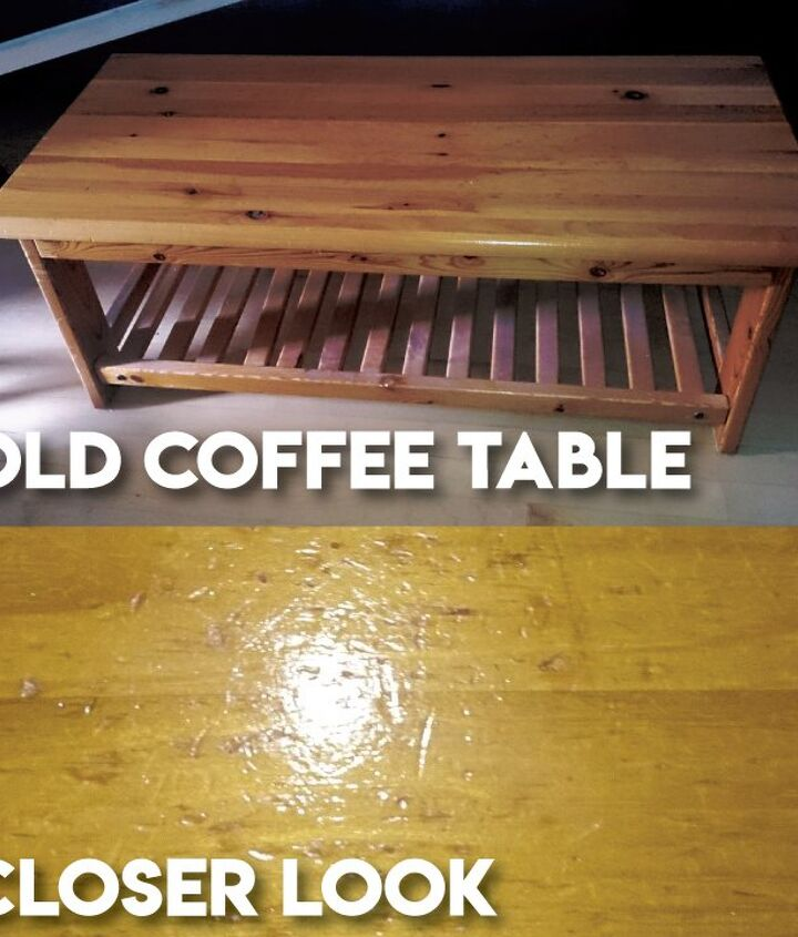 turning old coffee table into memory