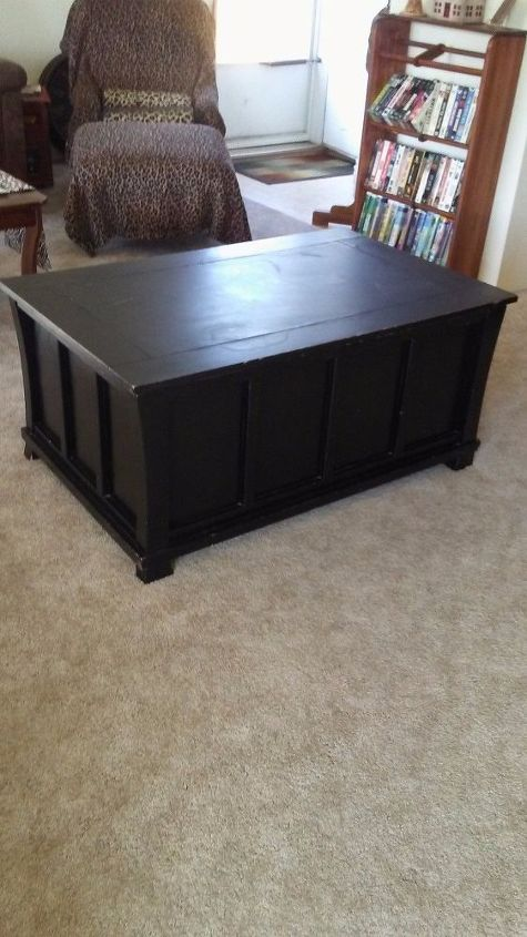 Coffee Table Toy Chest.Turn An Old Toy Chest Into A Lift Top Coffee Table Hometalk