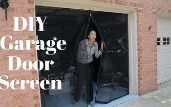 diy garage door screen with a zipper