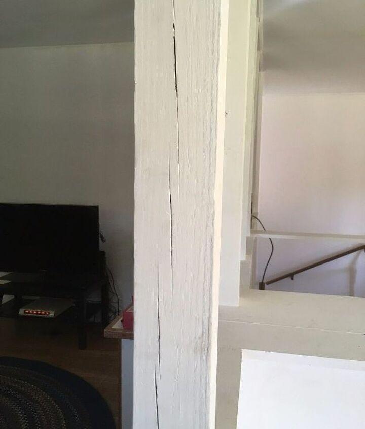 q how could i repaint indoor wooden columns