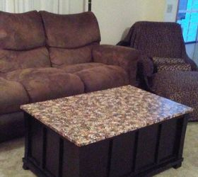 Make A Granite Top Coffee Table With Paint