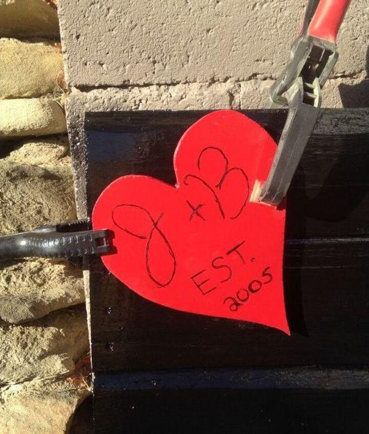 headboard with love