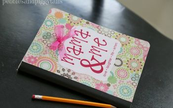 Easy Mama and Me Journal From Repurposed Composition Notebook