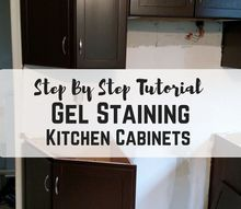gel stain kitchen cabinets step by step tutorial