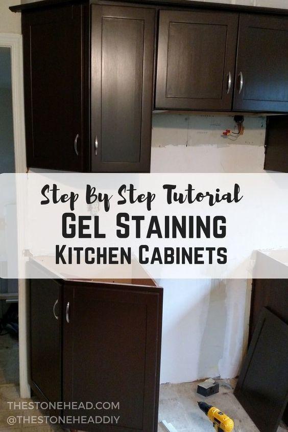 Gel Stain Kitchen Cabinets | Step by Step Tutorial | Hometalk