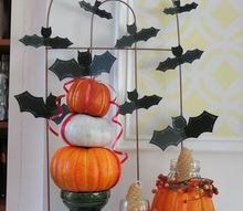 a bat tastic display for a halloween mantle