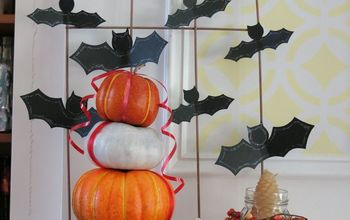 A BAT-tastic Display for a Halloween Mantle