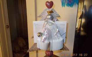 farmhouse style christmas angel ornament