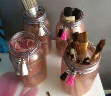 pounced rose gold glitter jars, Ta Da