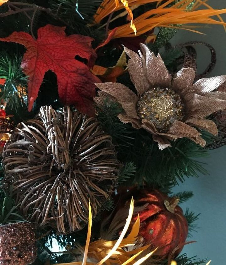 decorating for fall with a woodland fall tree