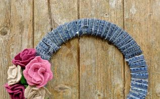 gorgeous unique wreath made from recycled scraps