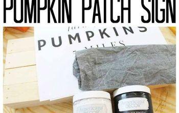 Pumpkin Patch Sign: An Easy DIY Idea