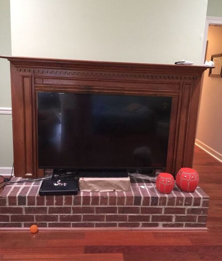 q what are best options to refinish brick fireplace with wood surround