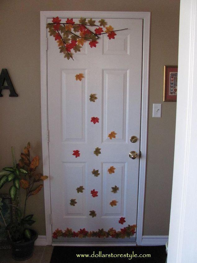 Decorate An Interior Door For Fall Hometalk