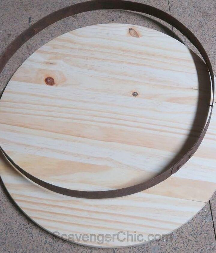 pottery barn inspired barrel top lazy susan diy