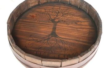 Pottery Barn Inspired, Barrel Top Lazy Susan DIY