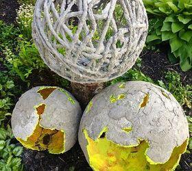 Wonderful Concrete Garden Orbs MadeByBarb
