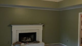, The walls in the home that I purchased were yellow and the fireplace was red brick and dark wood
