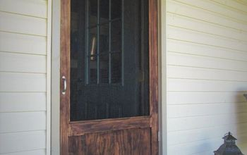 Sturdy Wood Screen Door