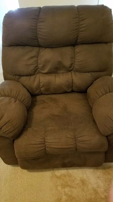 q advice painting suede recliners