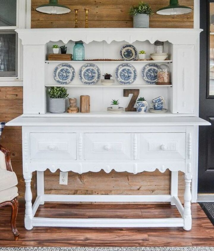 diy painted buffet makeover making it pretty again