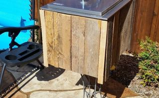rustic cover for outdoor ice chest