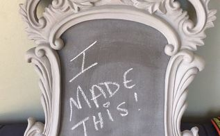 from icky green mirror to shab chic chalkboard