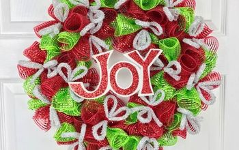 Christmas Deco Mesh Wreath!