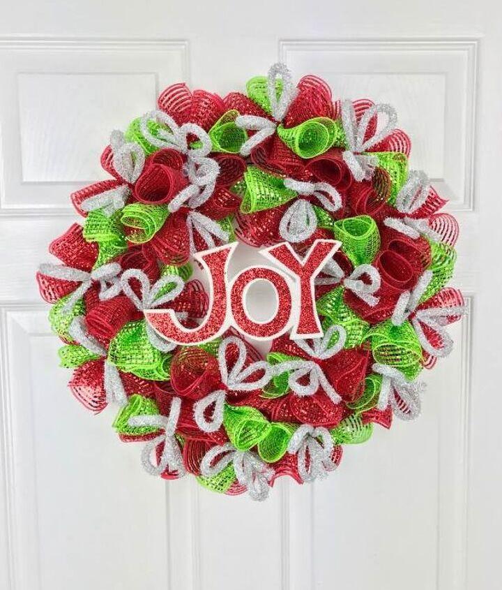 Christmas Diy Deco Mesh Wreath Hometalk