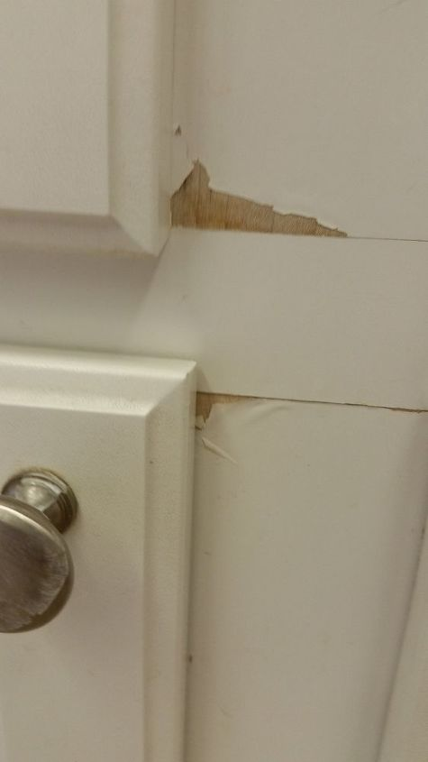 q how to repair thermafoil coating that is peeling from cabinets