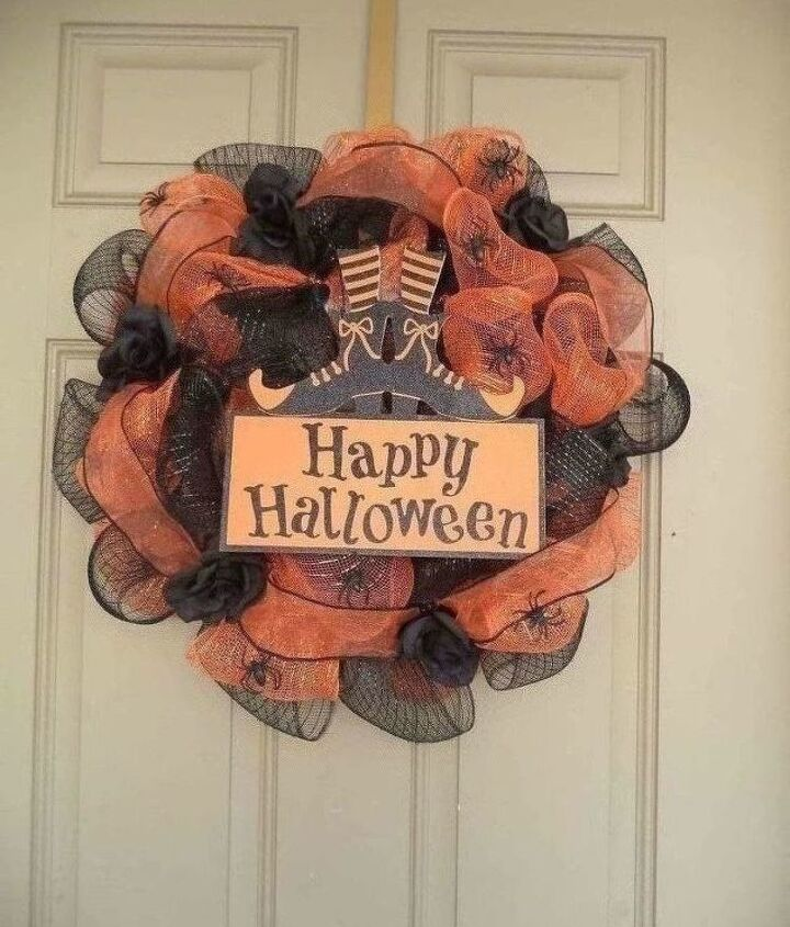 another diy with dollar tree items my first halloween mesh wreath