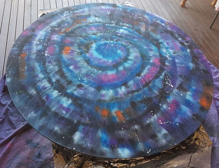 unicorn spit galaxy table on glass