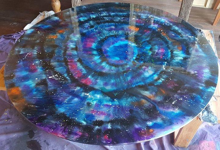 Unicorn Spit Galaxy Table On Glass Hometalk