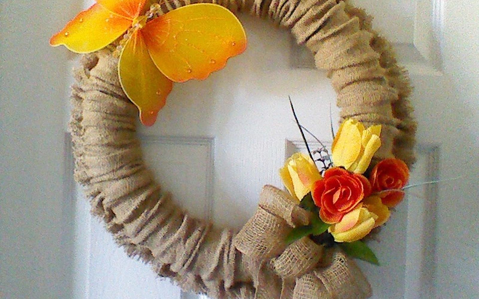 s 3 wreath ideas to brighten up your front door, Step 8 Add additional decor hang on door
