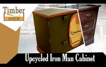 Upcycled Iron Man Cabinet From Chest of Drawers
