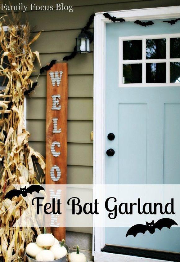 homemade halloween decor diy bat garland