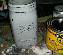 all in one chalk style painted mason jar
