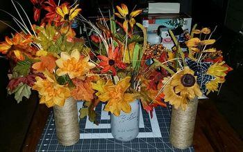 Left Overs Silk Flower Arrangements