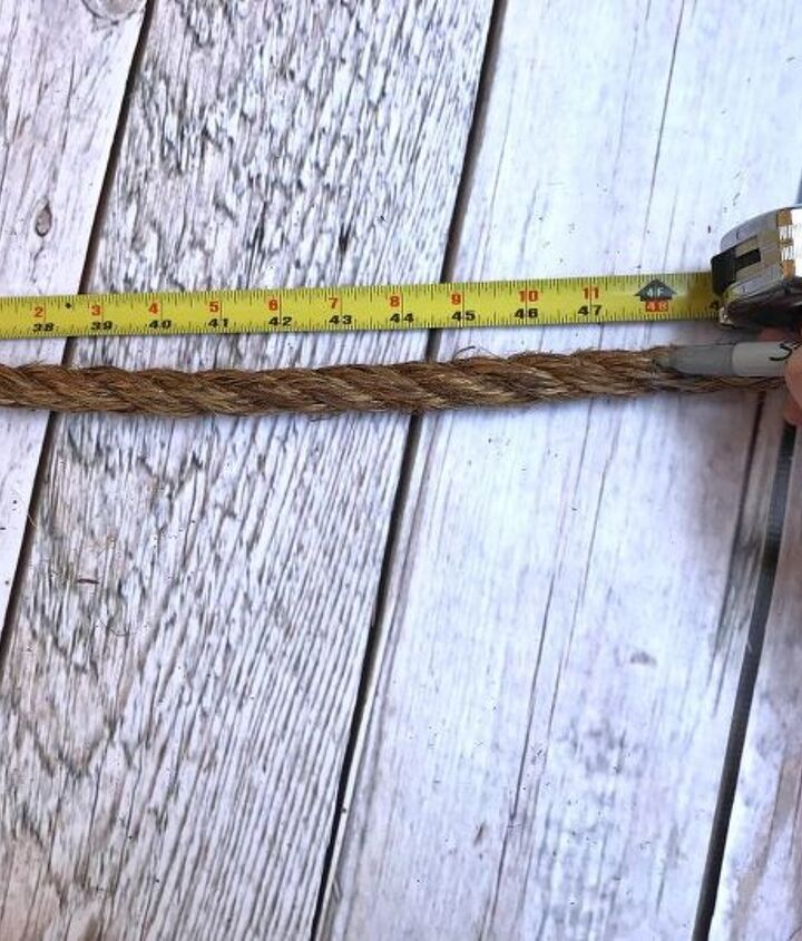 s a b c d pvc 3 awesome pvc projects ideas, Step 2 Measure tie and cut rope