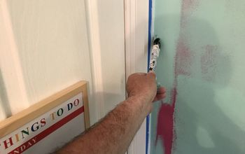 a simple trick to get a pro paint finish to a feature wall