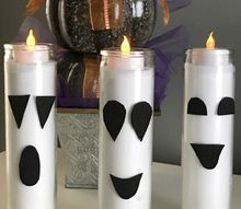 5 minute dollar store ghost candles