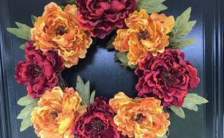 how to make a fall wreath quick and easy wreath