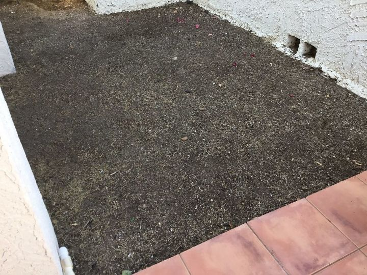q any ideas how to surface patio area next to saltillo tile patio