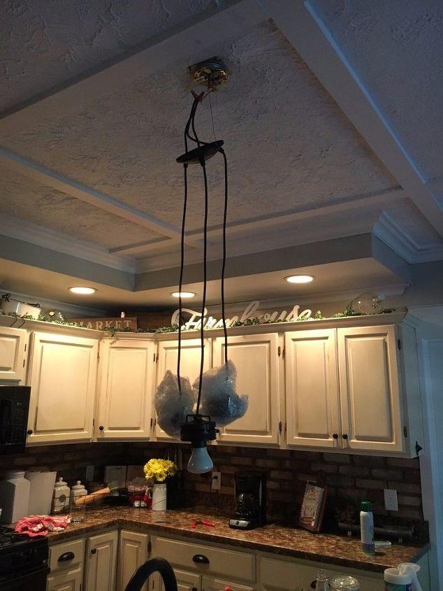 Ladder chandelier tutorial hometalk ladder chandelier tutorial aloadofball Image collections