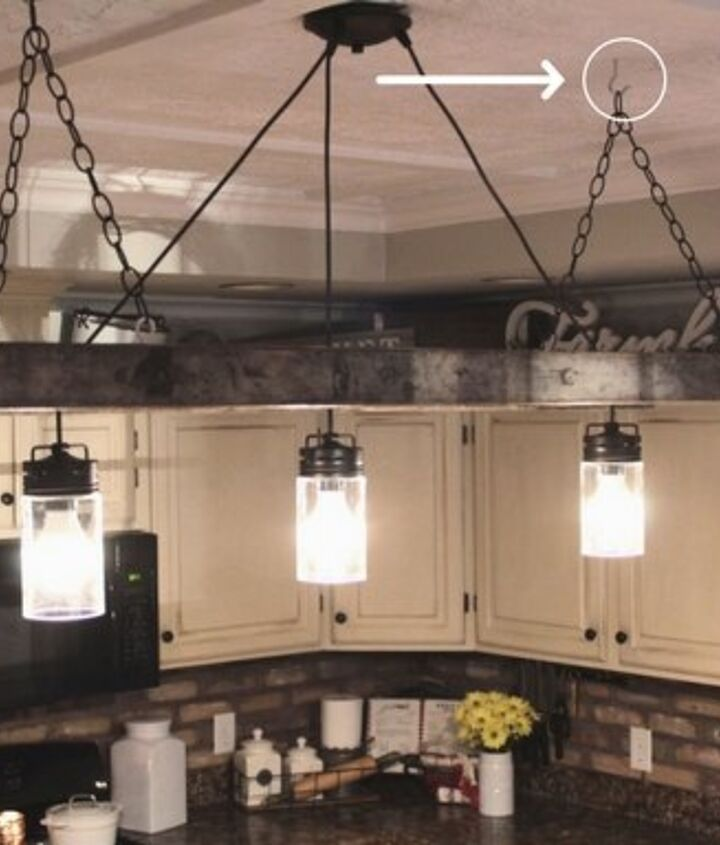 ladder chandelier tutorial