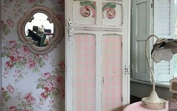 Soft Pink and Fluff Antique Wardrobe